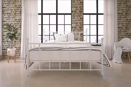DHP MANILA METAL BED WITH VICTORIAN HEADBOARD AND FOOTBOARD