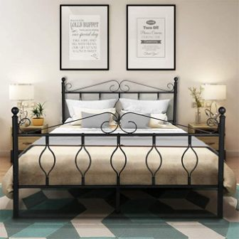 GreenForest Queen Bed Frame with Headboard and Footboard