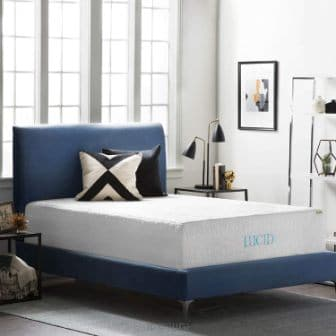 LUCID 16-Inch Gel Memory Foam and Latex Mattress