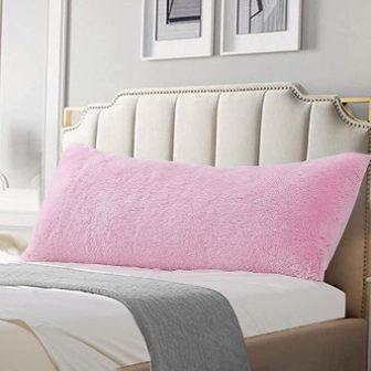 Reafort Faux Fur Body Pillow Cover