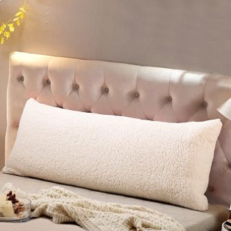 Reafort Ultra-Soft Sherpa Body Pillow Cover