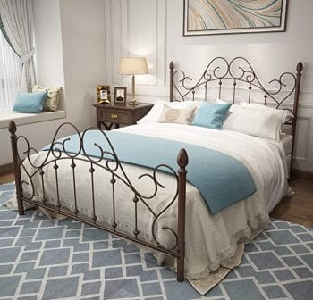 Urodecor Queen Bed Frame with Headboard and Footboard