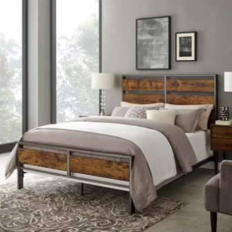 Walker Edison Furniture Company Arcadia Queen Bed Frame