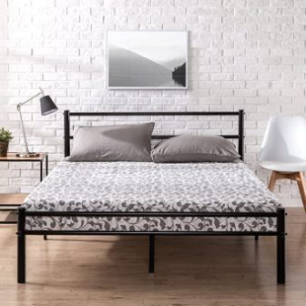 Zinus Geraldine Queen Bed Frame with Headboard and Footboard