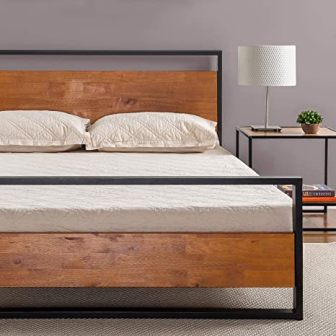 Zinus Suzanne Queen Bed Frame with Headboard and Footboard