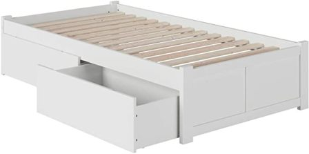 Atlantic Furniture Concord Platform Bed with 2 Urban Drawers