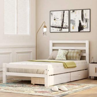 Baysitone Platform Bed with Two Storage Drawers