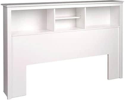 Bookcase headboard by Prepac