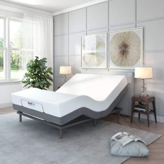 Classic Brands Comfort Upholstered Adjustable Bed Base with Mattress