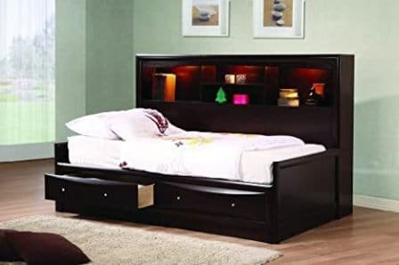 Coaster Home Furnishings Phoenix Daybed with Bookcase and Storage Drawers