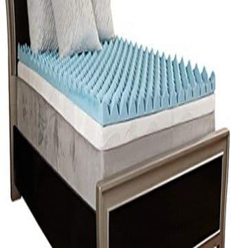 Comfort Essentials 4-Inch Gel Textured Memory Foam Topper
