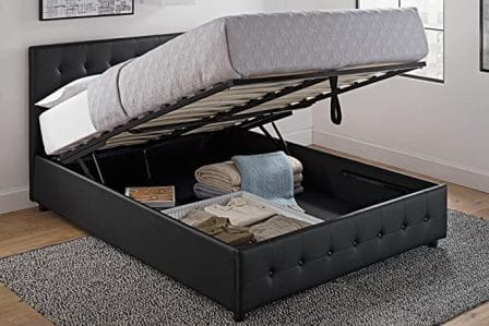 DHP Cambridge Platform Bed with Under Bed Storage