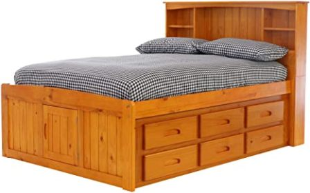 Discovery World Furniture Bookcase Captains Bed with 12 Drawers