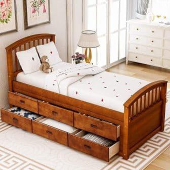 Harper & Bright Designs Captain's Bed