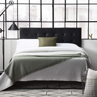 Hawthorne Faux leather headboard by Everlane