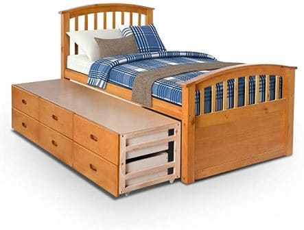 Hooseng Captain Storage Bed with 6 Drawers