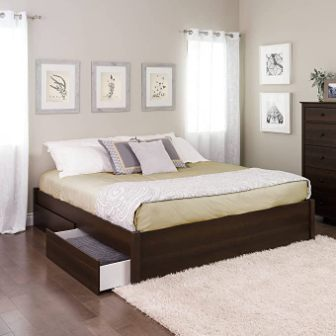 King Select Platform Bed (4-Post) with 4 Drawers