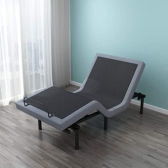 LEISUIT Uphostered Adjustable Bed Base
