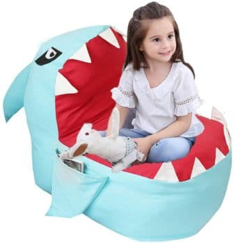 LMEISON ANIMAL STORAGE BEAN BAG CHAIR FOR KIDS