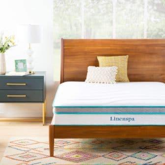 "Linenspa 10"" Memory Foam and Innerspring Hybrid Mattress"