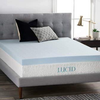 Lucid 4-Inch Gel Memory Foam Mattress Topper