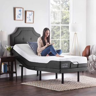 Lucid L300 Adjustable Bed Base with Mattress