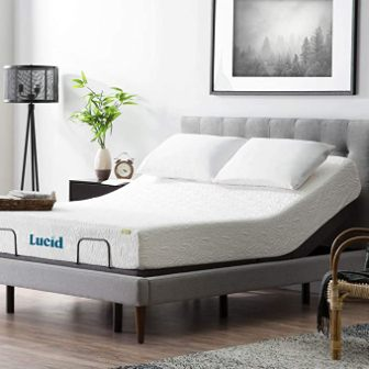 Lucid L300 Adjustable Queen Bed Base (Charcoal)