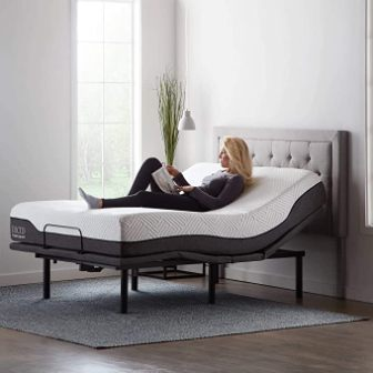 Lucid L600 Adjustable Bed Frame with Mattress