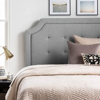 Lucid Upholstered Headboard with Scalloped Edges