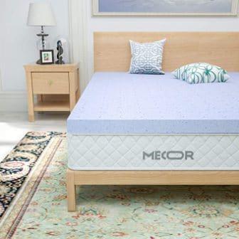Mecor 4-Inch Gel-Infused Memory Foam Mattress Topper