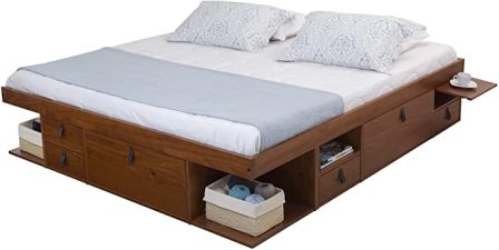 Memomad Bali Platform Bed with Drawers