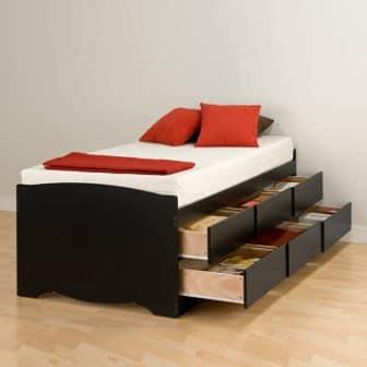 Prepac Captain's Platform Storage Bed