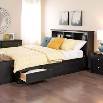 Prepac Full Mate's Platform Bed with 6 Drawers