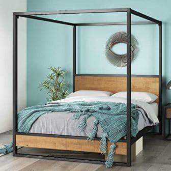 Queen-size Suzanne canopy bed by Zinus
