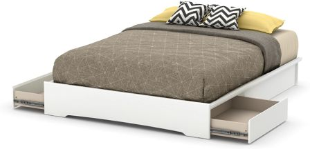 South Shore 60-inch Basic Platform Bed with 2 Drawers
