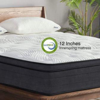 Sweetnight King 12-Inch Pillow Top Hybrid Mattress