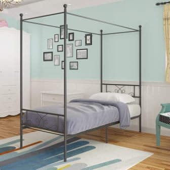 Twin canopy bed by WeeHom