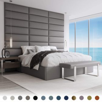 Vänt Upholstered Wall Panels Mounted Headboard