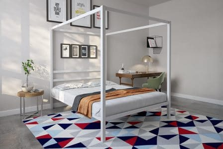 White luxury canopy bed by DHP