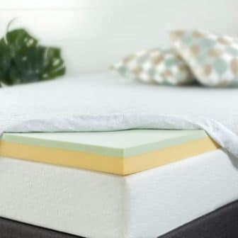 Zinus 4-Inch Green Tea Memory Foam Mattress Topper