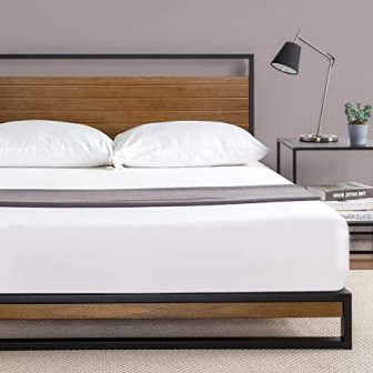 Zinus Suzanne Metal and Wood Platform Bed Frame