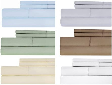 4-pc Hemstitch cotton bedding set from Weavely