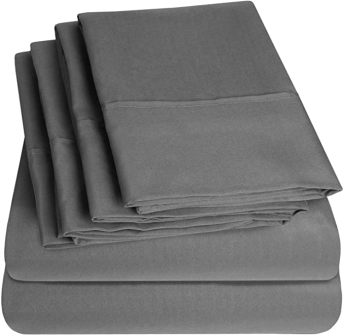 6-piece bed sheet set from Sweet Home Collection