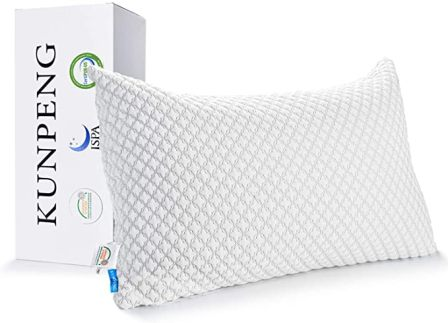 Adjustable hypoallergenic cooling pillow by KUNPENG