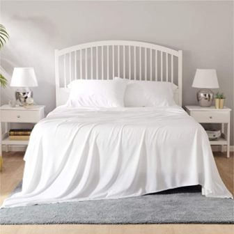 Bamboo bed sheet set from Bedsure