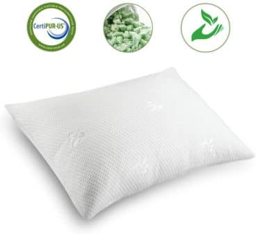CertiPUR-US-certified shredded memory foam cooling pillow by Coolzon