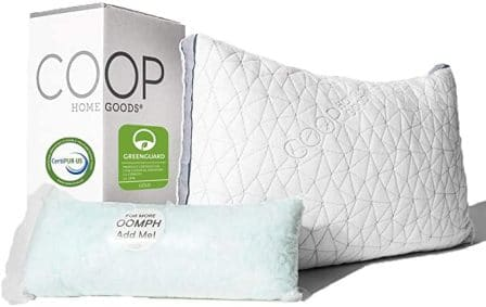 Hypoallergenic adjustable cooling pillow by Coop Home Goods Store