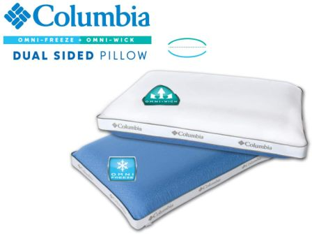 Queen-size extreme cooling pillow by Columbia