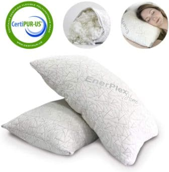 2-piece adjustable king-size pillow by EnerPlex