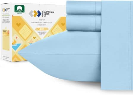 California Design Den 100% Pure Cotton Bed Sheet Set